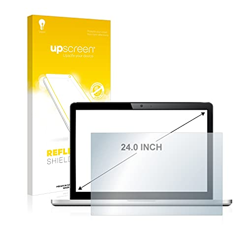 upscreen Entspiegelungs-Schutzfolie für 24 Zoll Industrie-Monitore (519 x 325 mm, 16:10) – Anti-Reflex Displayschutz-Folie Matt