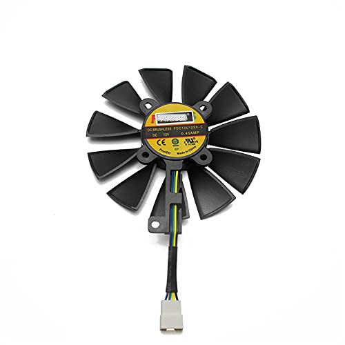 Price comparison product image 87MM FDC10U12S9-C FDC10H12S9-C For ASUS Dragon GTX 1070Ti RX VEGA64 GTX 1060 1070 1080 RX 480 580 Graphics Card Cooler Fan (Blade Color : 4PIN)