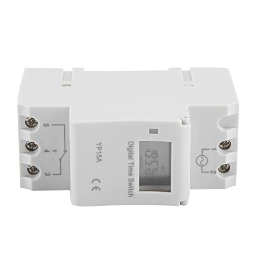 Jeanoko Interruptor de temporizador digital LCD, fácil de montar, batería de alta eficiencia, interruptor programable para lámparas de calle, luces de neón, campanas eléctricas, radio (DC24V)