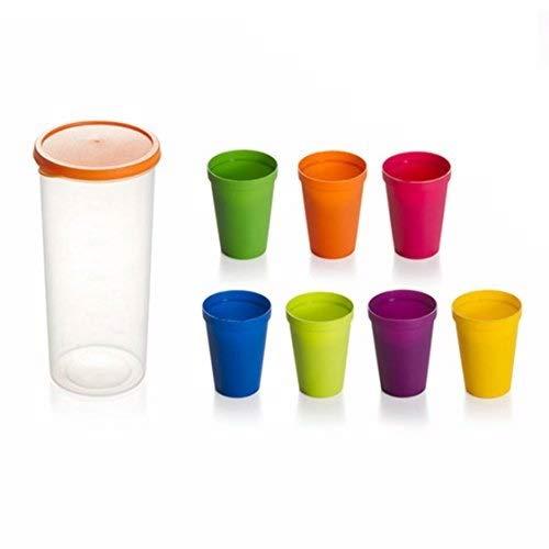 OFKPO 8 Stück Kunststoffbecher,Stapelbar Kunststoff Tassen für Reise und Party