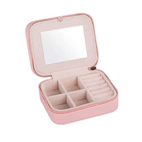 GYDSSH Pequeña Caja de joyería de Viaje, Caso del almacenaje del Recorrido Mini Organizador portátil de Pantalla for los Anillos de los Pendientes del Collar, Regalos opción for Las niñas Mujeres