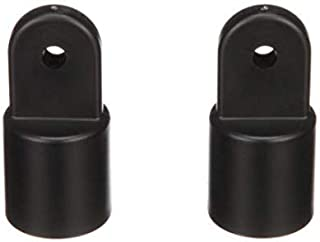 Boat Fittings Top Cover Cap Eye End Nylon - Suitable for 7/8 inch Outer Diameter Tube (Black, 2 pcs)