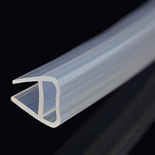 Lcuiling- Tira de sellado Tiras de sellado de la puerta de la ducha de vidrio de la ducha de cristal a prueba de uva a prueba de U 1-3m, tira de sello de vidrio de ventana de goma de silicona, Ampliam