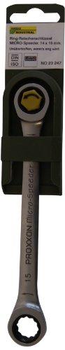 PROXXON 23247 MicroSpeeder 14  x 15 mm Doppelring Ratschenschlüssel