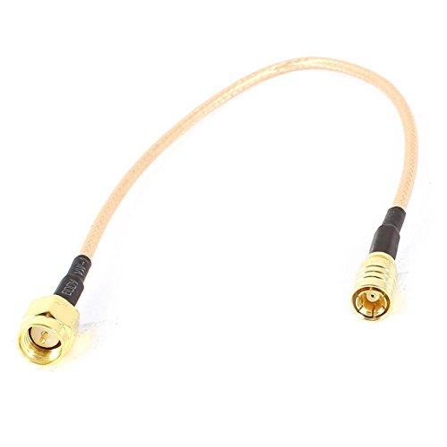 CUHAWUDBA SMA Stecker 21,5 cm Schwarz + Gold SMB Stecker M/F Stecker RG 316 Koaxial Jumper Kabel