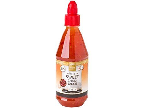 süße Chilisauce z.B. für Frühlingsrollen, Hähnchen, Fleisch, zum Grillen sweet Chilli sauce, Dipp, soße, 435ml suesse chillisauce chilisoße
