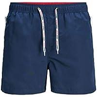 Jack & Jones JJIARUBA Swimshorts AKM Zip Bañador para Hombre, Azul Medieval, L