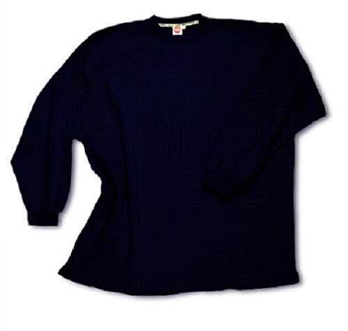 Übergrößen !!! Basic Sweatshirt Honeymoon Navy ohne Bündchen unten 10XL