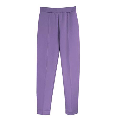 YIBANG-DIANZI Hoddie para Mujer Mujeres Unisex Pareja con Capucha, Invierno Casual Suelto Jumper más tamaño Señoras de otoño e Invierno Tops (Color : Pants 2 Purple, Size : M)