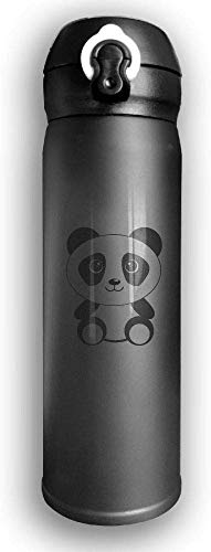 Stainless Steel Drink Flask, Little Panda Stainless Steel Mug Double Walled Vacuum Insulated Water Bottles