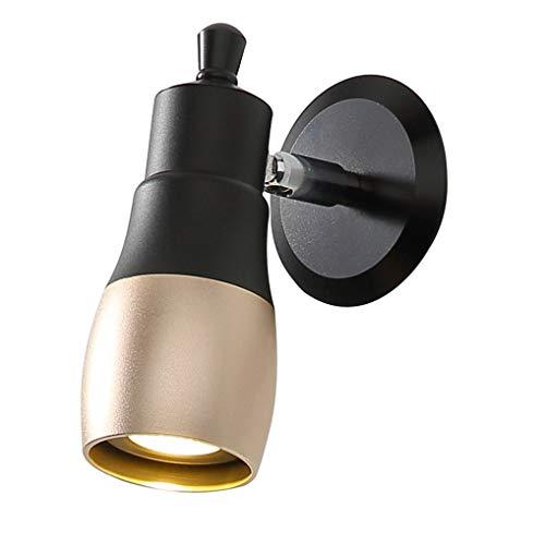 BYDXZ / E27 lamphouder 180° wandlamp hoek draaibaar creatief elegante hal eenvoudige trapverlichting gang licht Ø6cm wandlamp van aluminium ovale wandlamp 40