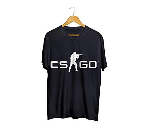 Camiseta Camisa CS GO Counter Strike Tiro FPS Masculino Preto Tamanho:M;Cor:Preto