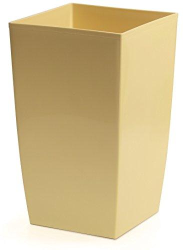 Prosperplast Coubi Cache-Pot rectangulaire en Plastique Brillant avec Pot Beige 4 l
