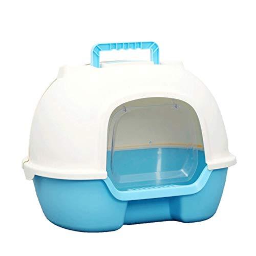 WYYAF Ruim toilet, volledig gesloten toilet spatbescherming semi-automatische deodorant-opvangbak accessoires duurzaam (kleur: blauw)