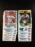 2013 Topps Baseball Texas Rangers Complete Team Set (22 cards) - Mike Olt Rookie, Jurickson Profar Rookie, Yu Darvish, Neftali Feliz, Mitch Moreland, Scott F... rookie card picture