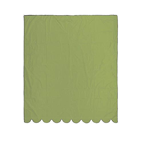 Zoeay Sunshade Sail,Retractable Sunshade Canopy,210D Sunshade Replacement Fabric (Without Pole),95% Uv Resistance,Pu Waterproof Coating,Suitable For Outdoor Courtyards-Green_3*1.5M