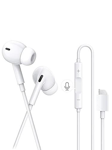 Auriculares para iPhone, Auriculares con Cable con micrófono y Control Volumen de Llamadas Compatible con iPhone SE/7/8 Plus/11/11 Pro/12/12Pro/XS/X/XR