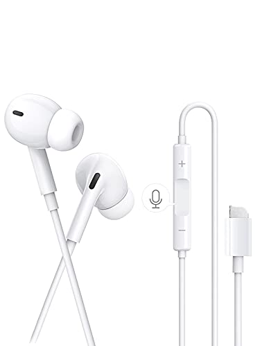 Auriculares para iPhone, Auriculares con Cable con micrófono y Control Volumen de...