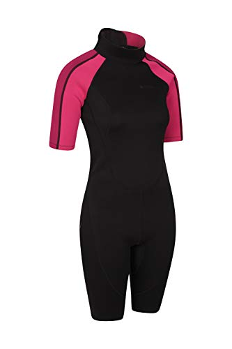 Mountain Warehouse Shorty Womens Wetsuit - Neoprene Ladies Swimsuit, Easy Glide Zip Surf Suit, Extended Puller, Flatlock Seams - Ideal for Scuba Diving, Swimming