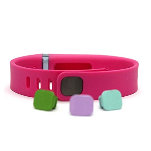 Voguestrap Smart Buddie Activity Tracker Band & Clasps for use with Fitbit Flex- Pink Small