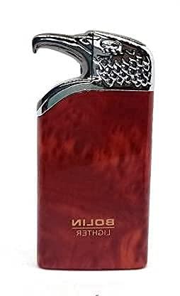 MEENAMART.COM Design Eagle Face Butane Gas Flame Pocket Cigarette Lighter