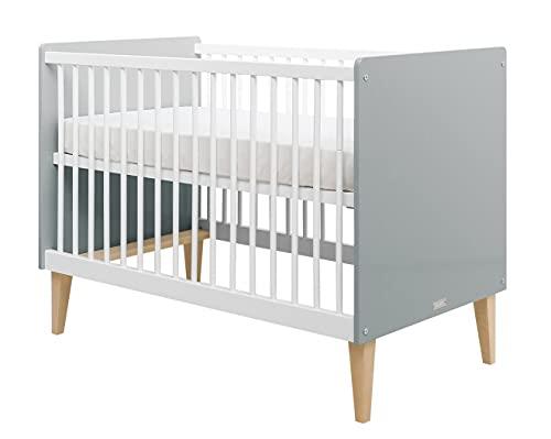 lit bébé blanc gris