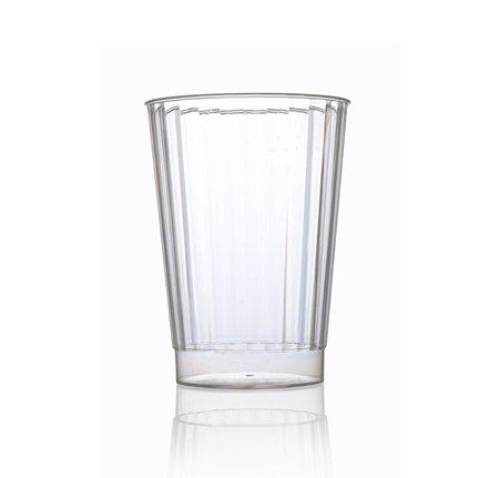 Elegantes vasos de plástico duro para fiesta, diseño de cristal, 280 ml, transparente, 20 unidades