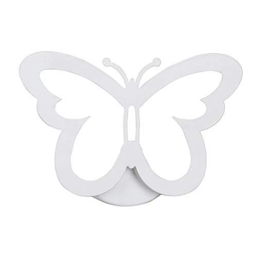 Pouluuo 1 PC simple acrylique 12WLED papillon mur lampe porche lampe chambre salle de bains/blanc chaud