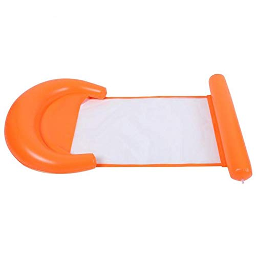 chebao Inflatable Floating,Water Hammock, Swimming Pool Inflatable Floating Bed Floating Chair, Water Sofa,, Foldable Water Floating Bed Lounge Chair Inflatable Floating Row (Orange)