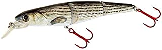 Real Fish 4.5 S-Defender Jerkbait swimbait Striped Bass Bluegill S Curve Waver Trout Multi Jointed Lifelike Hard Crankbait Swim Bait Bass Fishing Lure Diving (Striped Bass)