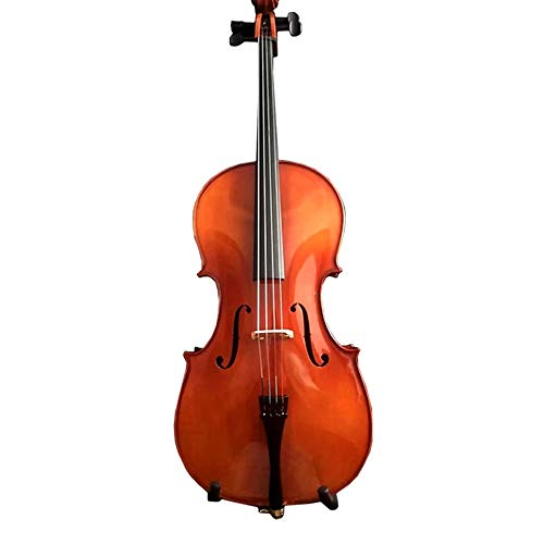 Miiliedy Hecho a mano de madera maciza, violonchelo, adultos, niños, principiantes, práctica de prueba, desempeño profesional, violonchelo, dulce melodiosa, con estuche, resina (tamaño : 4/4)