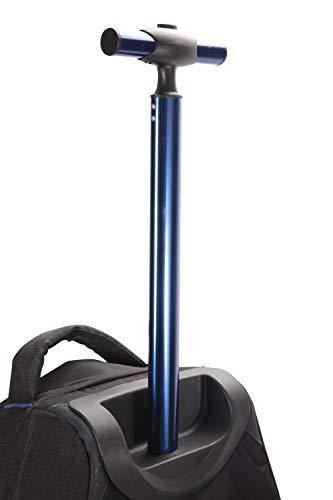 Mountain Warehouse Voyager Wheelie 50 + 20 l Rucksack - Abnehmbarer Tagesrucksack, Rucksack mit Schulterriemen, Reißverschlüsse - Für Reisen, Wandern, Camping, Frühling Schwarz Jet
