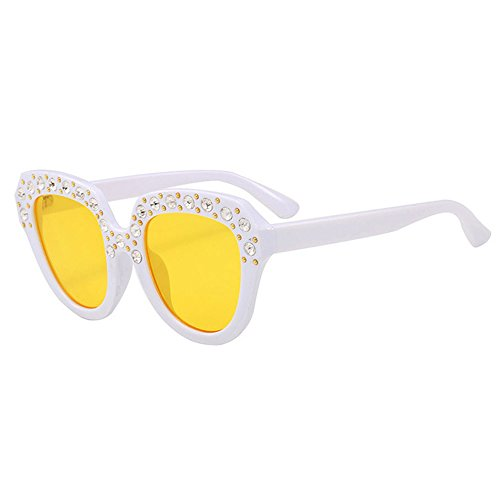Storerine Kinder Baby Kinder Unisex Imitation Diamant Sonnenbrille Integrierte UV-Brille Super Coole Travel Eyewear