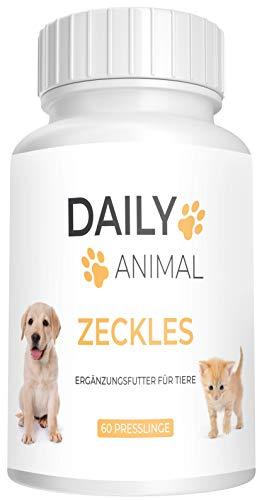 PowerSupps Daily Animal ZECKLES Presslinge für Hunde und Katzen - hochwirksam mit Sofortwirkung – Schutz für Ihr Haustier