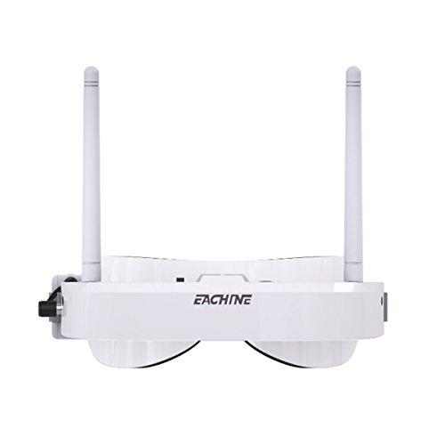 Eachine EV100 FPV Goggles Headset 720 * 540 5.8G 72CH mit Dual Antennen Fan 7.4V 1000mAh Akku für RC Racing Drone Quadcopters von HankerMall