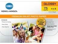 Konica Minolta Premium Glossy Photo Paper Sheets 4in Ranking TOP5 75 Max 45% OFF X 6in