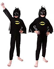 Fancydresswale Superhero Adventure Dress for Boys|Birthday Gift for Kids| Halloween Party Costume for Boys (Batman, 4-6 Years)