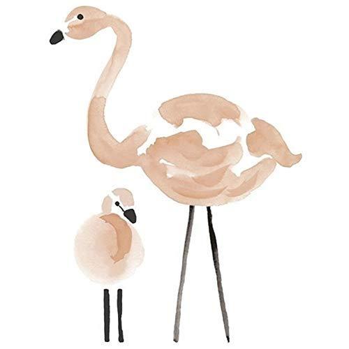 Schöne Flamingo Luftballons Bad Fliesen Aufkleber Wohnkultur Dekoration Mode Kreative Wandaufkleber Wohnzimmer Wandtattoo 90X60 cm