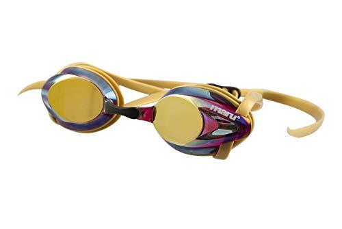 Maru Unisex AG5703 Schwimmbrille, Gold/Pink/Blau, Erwachsene