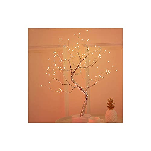 Bonsai Tree Desk Lamp, DIY Led Desk Tree Lamp, USB Artificial Bonsai Tree Lights with Copper Wire, 36leds/108leds Warm Fairy Lights Tree lamp for Bedroom Living Room Home Decoration