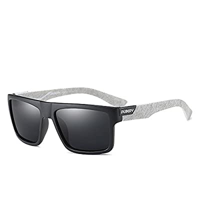 DUBERY Mens Sport Polarized Sunglasses Outdoor Riding Square Windproof Eyewear, #2, Frame width:141mm