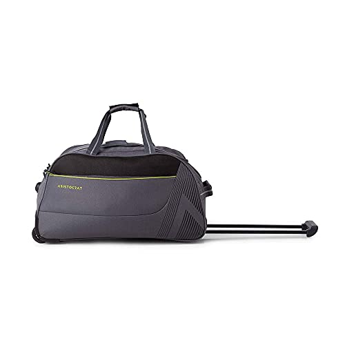 Aristocrat Dale Polyester 51.6 Cms Grey Travel Duffle with Corner Guards