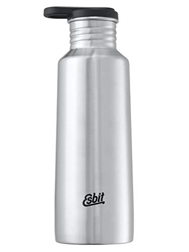 Esbit Trinkflasche Pictor | Edelstahl | BPA-Frei | Silber & Blau | 0,75L & mehr | Schule, Wasser, Fahrrad, Sport, Yoga