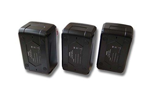 Set 3x batería Li-Ion 4000mAh (28V) para herramientas Milwaukee V28 PD atornilladora de impacto a batería etc. y 48-11-1830, 48-11-2830, 48-11-2850.