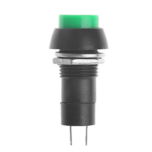 GUMEI 5Pcs / Set Mini DS-11A Interruptor de botón SPST de Bloqueo automático con Enclavamiento AC 250V 3A