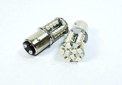 LEDIN 2 Pcs of 1157 40 SMD LED Tail Light Bulb BAY15d 2357 7528 Red