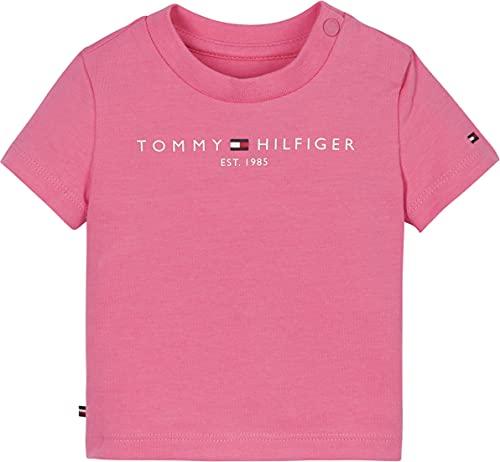 Tommy Hilfiger Baby-Jungen Essential Tee S/S Hemd, Exotisches Pink, 74 cm