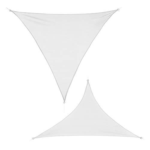 BB Sport Tenda Velo Sole 2.5m x 2.5m x 3.5m Cocco Triangolare Vela Sole Ombreggiante HDPE Protezione Solare UV 90% Parasole Giardino Esterni