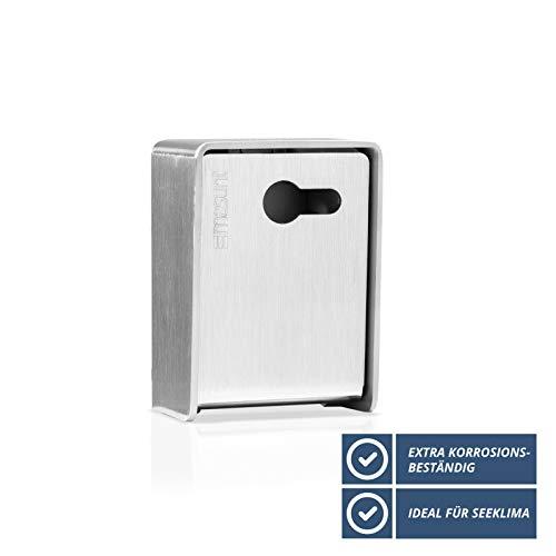 Schlüsseldepot 241 Standard vorgerichtet PHZ (V4A) - Kleine hochwertige Schlüsselbox für die sichere Schlüsselaufbewahrung
