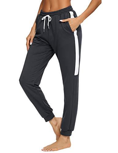 Aibrou Pantalones Chándal Mujer Fitness,Pantalón de Deporte para Yoga Running Jogging Gimnasio,Pantalón...